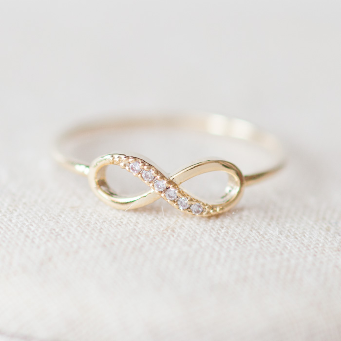 infinity ring gold. us size 5-infinity ring in gold infinity